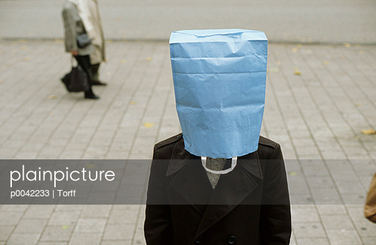 Paper-bag over the head - p0042233 by Torff