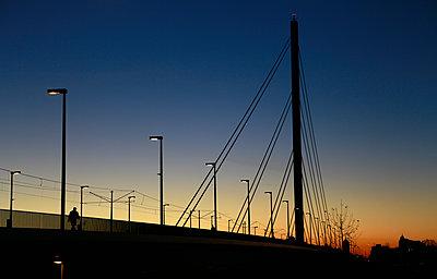 Bridge at twilight - p1221m1195000 by Frank Lothar Lange