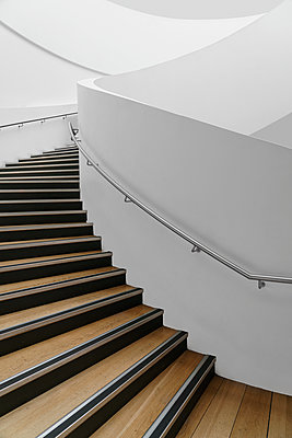 modern spiral staircase - p1280m2073111 by Dave Wall