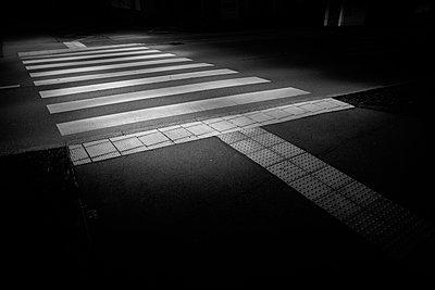 Zebra crossing at twilight - p1578m2278098 by Marcus Hammerschmitt