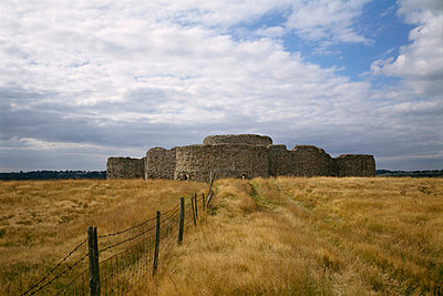 Camber Castle. View from outside the castle walls. - p8551716 by Nigel Corrie