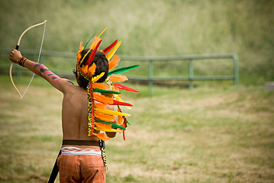 Playing american indian - p8580054 by Lucja Romanowska