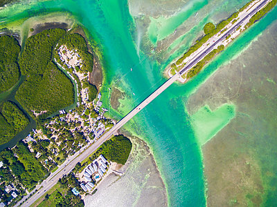 Miami City From Above In Florida, Usa - p343m1416094 by Evgeny Vasenev