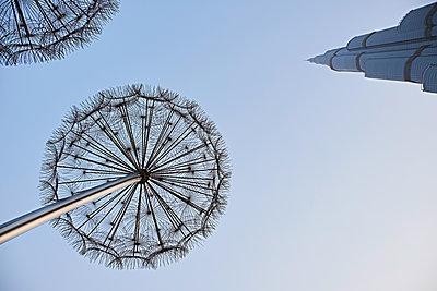 Dandelion sculpture in Dubai - p851m2077281 by Lohfink
