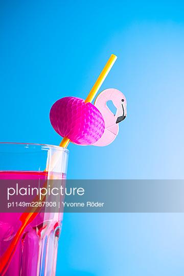 Flamingo straw - p1149m2287908 by Yvonne Röder