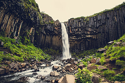 Svartifosswaterfall in Iceland - p1084m986804 by Operation XZ