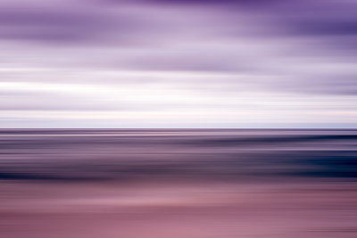 Coastal sea and sky with motion blur effect. - p1436m2151540 by Joseph S. Giacalone