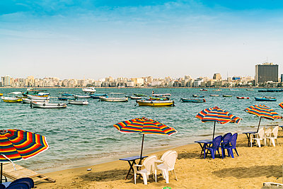 Beach of Alexandria with fishing boats - p1332m1502945 by Tamboly