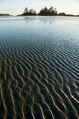 Ripples Form In The Sand At Chesterman's Beach And Frank Island Near Tofino; British Columbia Canada - p442m699867f by Deddeda