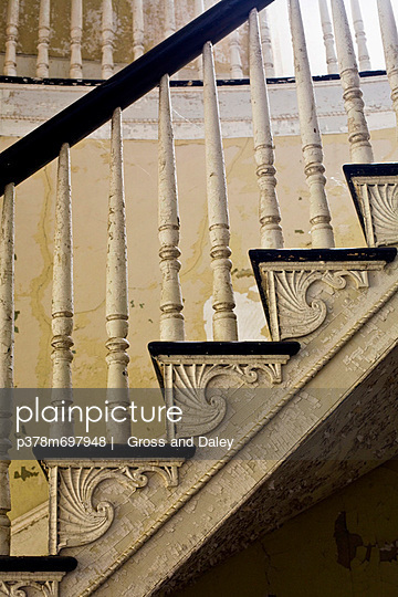 Stair detail in old house - p378m697948 by   Gross and Daley