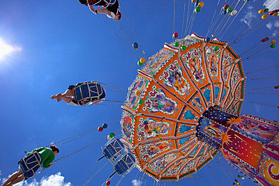 Oktoberfest carousel Merry go round Munich Germany - p609m765464 by WRIGHT