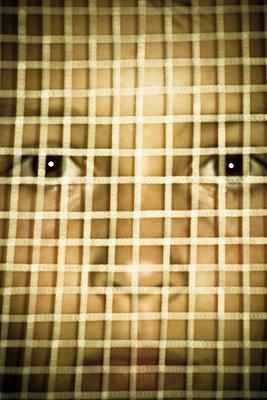 boy, grid, barrier, - p694m811236 by Marianne Ellis