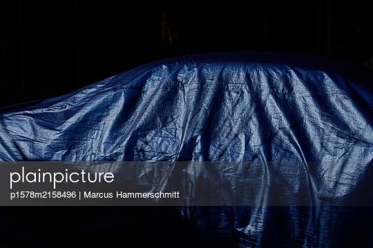 Covered car - p1578m2158496 by Marcus Hammerschmitt