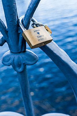 Love lock, Stockholm, Sweden - p778m2037552 by Denis Dalmasso