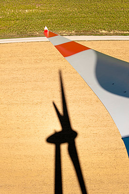 Rotor blade and silhouette - p1079m891080 by Ulrich Mertens