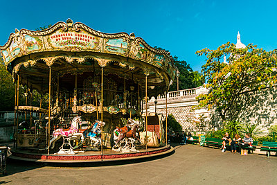 Fairground Carousel near the Basilica of the Sacre Coeur, Montmartre - p1332m1502795 by Tamboly