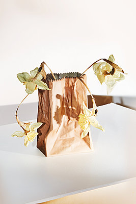 Flowers in a ceramic bag - p1673m2254428 by Jesse Untracht-Oakner