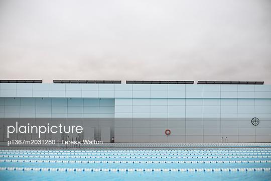 Swimming lanes - p1367m2031280 by Teresa Walton