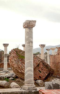 Ancient excavation in Turkey - p382m2108743 by Anna Matzen