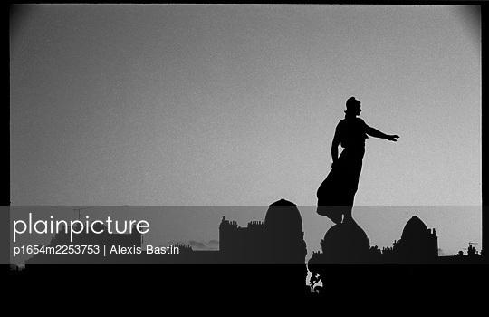 Paris, sunset - p1654m2253753 by Alexis Bastin
