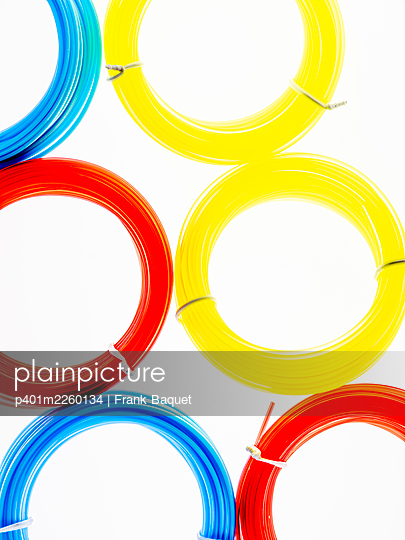 Coloured nylon cords - p401m2260134 by Frank Baquet