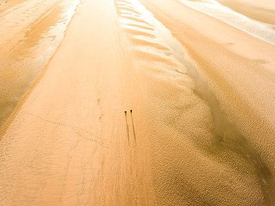 Camber Sands Beach at sunrise, Camber, near Rye, East Sussex, England, United Kingdom, Europe - p871m1197026 by Matthew Williams-Ellis