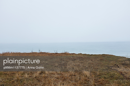 View of foggy sea - p956m1137775 by Anna Quinn