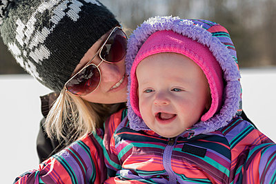 Babies First Winter - p1086m894220 by Carrie Marie Burr