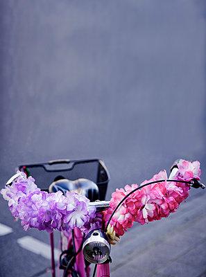 Bike with decoration - p580m971258 by Eva Z. Genthe