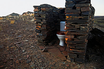An outdoor toilet along the Tok Tokkie Trail, NamibRand Nature Reserve, Namibia - p3018837f by Markus Renner