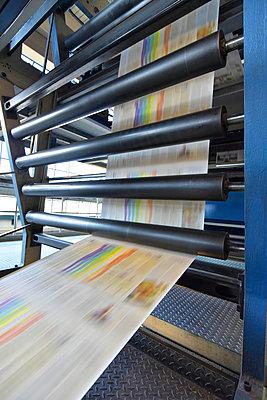 Printing machine in a printing shop - p300m2104354 by Sten Schunke