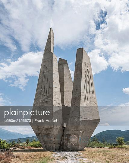 Partisan memorial in Bulgaria - p390m2126673 by Frank Herfort