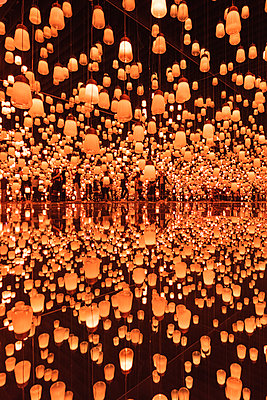 teamLab Borderless Digital Art Museum, Odaiba, Tokyo, Kanto region, Japan. - p651m2062114 by Marco Bottigelli