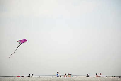 Kite in the sky - p1385m1424880 by Beatrice Jansen