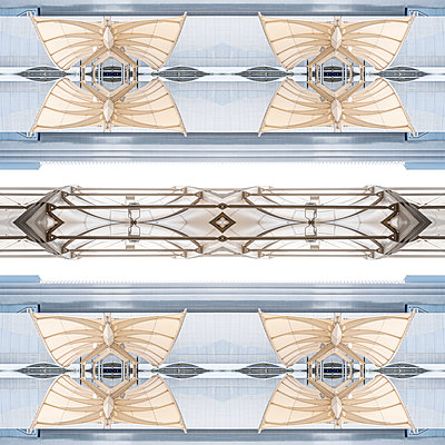 Abstract Kaleidoscope Salzburg Airport - p401m2211960 by Frank Baquet