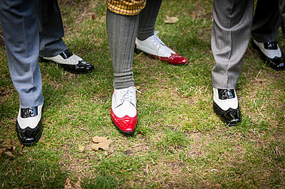 Wingtip shoes being worn at the Chap Olympiad.  - p1403m1482595 by Photofusion