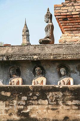 Buddhistische Mönche, Wat Mahathat - p375m1021466 von whatapicture