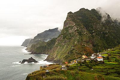 Settlement on the steep coast, Madeira - p1643m2229404 by janice mersiovsky