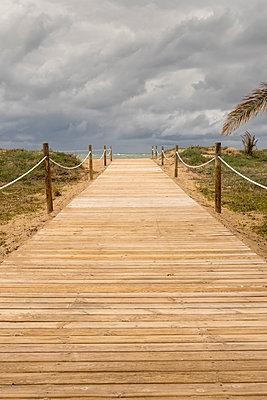 Boardwalk leading to the beach - p1302m1559616 by Richard Nixon