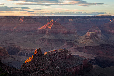 Grand Canyon at sunset - p1057m1466815 by Stephen Shepherd
