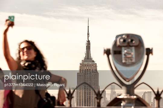 Empire State Building from the Top Of The Rock - p1377m1344022 by Massimo Ripani