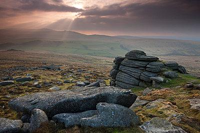 Yes Tor from Higher Tor, Belstone, Dartmoor National Park, Devon, England, United Kingdom, Europe - p871m711416 by Adam Burton