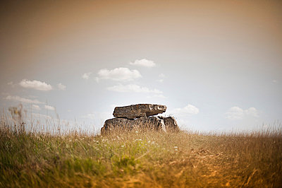 Old dolmen in a field - p1007m854038 by Tilby Vattard