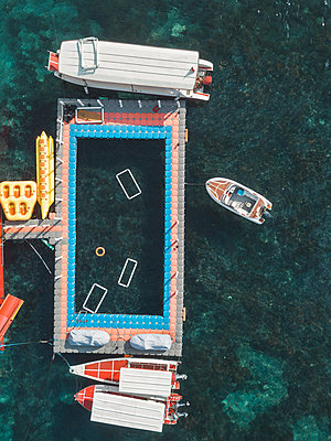 Aerial view, Boats - p1108m2090351 by trubavin