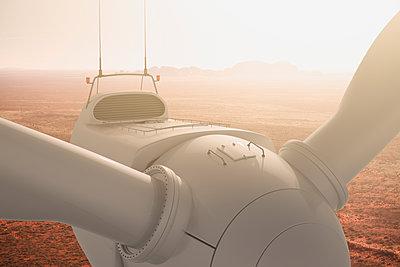 Wind turbine in the Australian outback - p1275m1423863 by cgimanufaktur