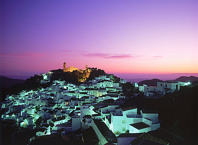 Casares village at dusk in Malaga Province Spain - p34811030 by Chad Ehlers