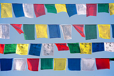 Buddhist prayer flags - p9247000f by Image Source