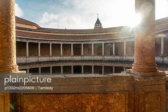 Spain, Granada, Alhambra, Palacio de Carlos V - p1332m2205609 by Tamboly