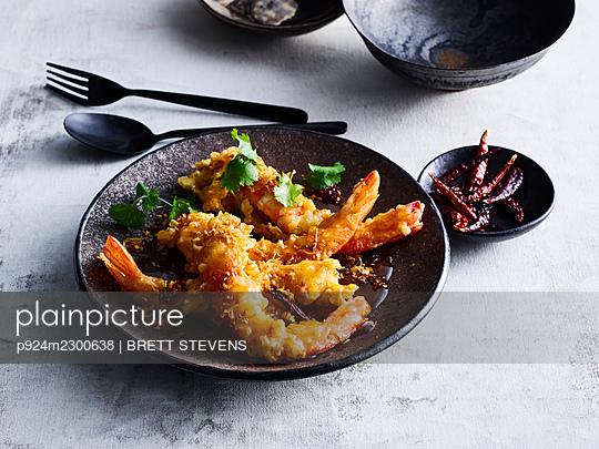Goong Ma Karhm deep-fried shrimp - p924m2300638 by BRETT STEVENS