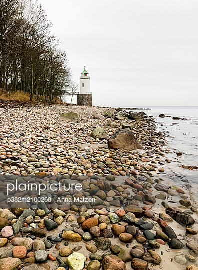 Lighthouse on the Baltic Sea coast - p382m2100268 by Anna Matzen